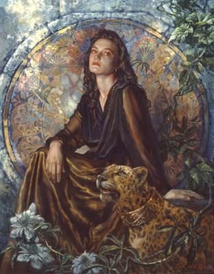 Портрет Елены с леопардом - фото 4048