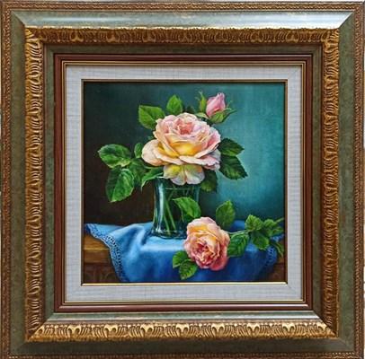 """Картина маслом """"Три розы"""""""