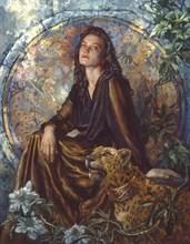 Портрет Елены с леопардом