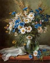 """Картина маслом """"Полевые цветы"""""""